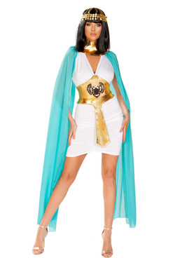Egyptian Warrior Queen Costume Roma | R-4926, Full Front View