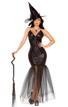 Fancy Glitter Witch Spell Costume Roma | R-4910, Full View
