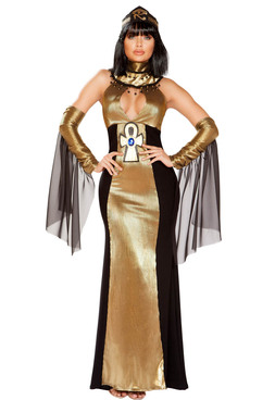 Women's Ruler of Egypt Costume Roma | R-4930, Full Front View