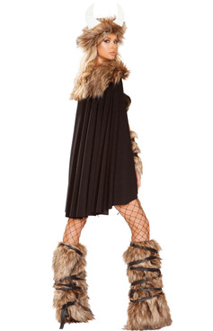R-4892, Women's Viking Warrior Costume Roma | Back View