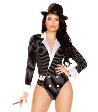 Roma | R-4922, Sexy Romper Gangster Costume