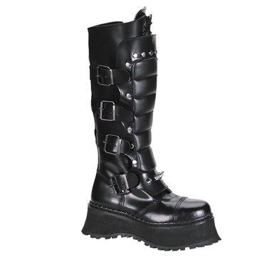 RAVAGE-II, Goth Boots with Spikes and Zipper, Demonia