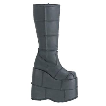 Demonia | Men STACK-301PU, Goth Cyber Gogo Platform Boots