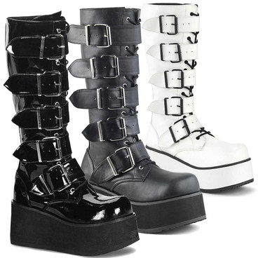 Demonia   TRASHVILLE-518 Men's Goth Punk Knee Boot