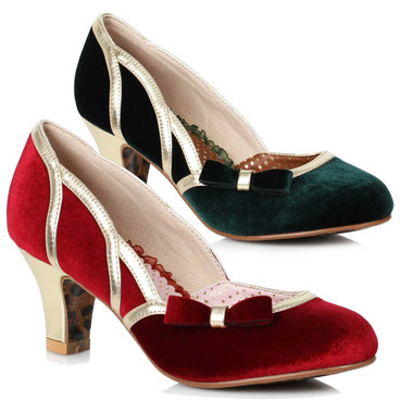 Bettie Page Shoes   BP250-Camille, Suede Pump
