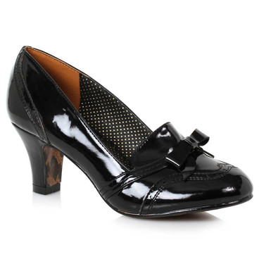 BP250-Sadey, Black Loafer with Bow by Bettie Page Shoes