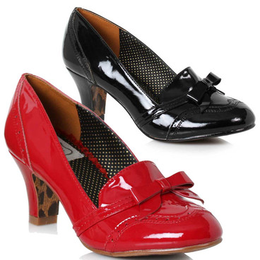 Bettie Page Shoes | BP250-Sadey, Loafer with Bow