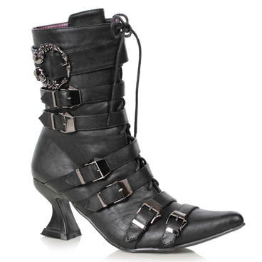 "301-Rosita, 3"" Witch Pointy Toe Boots by Ellie Shoes 1031"