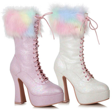 Ellie Shoes | 557-Nora, Ankle Boots with Faux Fur