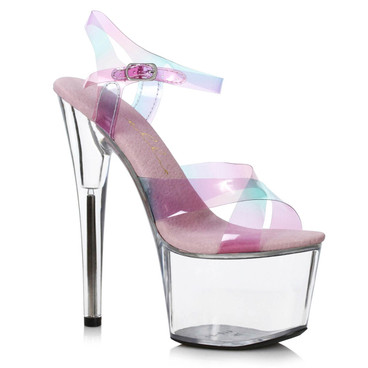 "709-YUKI, 7"" Multi color  Criss Cross Strap Platfrorm Sandal by Ellie Shoes"