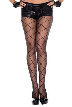 Music Legs, Criss Cross Sheer Pantyhose, ML-7143