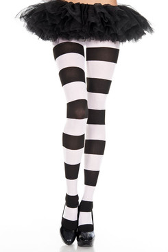 Wide Striped Pantyhose | Music Legs ML-7422