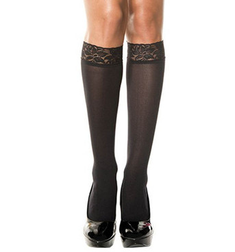 Lace Top Knee High by Music Legs ML-5745