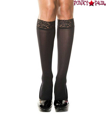 Music Legs ML-5745 Lace Top Knee High Stockings
