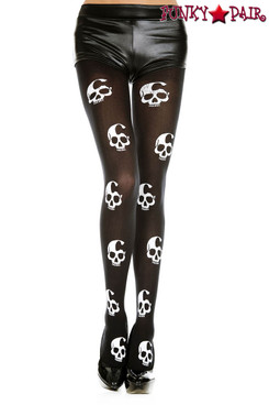 Music Legs ML-37349, Skull Print Tights
