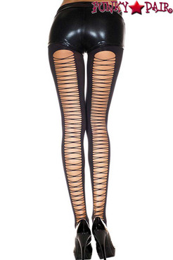 Music Legs | ML-7243, Corset Back Spandex Tights