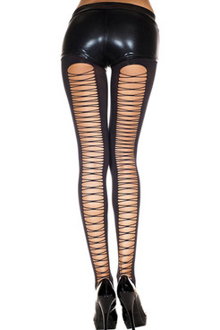 Corset Back Spandex Tights by Music Legs | ML-7243