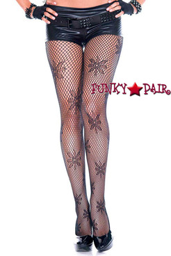 Music Legs ML-50022, Flower Design Pantyhose