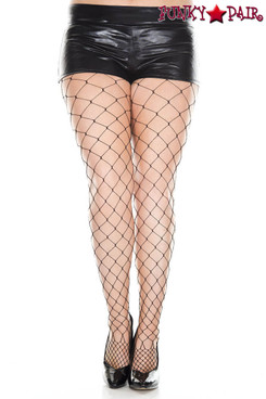 Music Legs | ML-9024Q, Plus Size Diamond Net Pantyhose