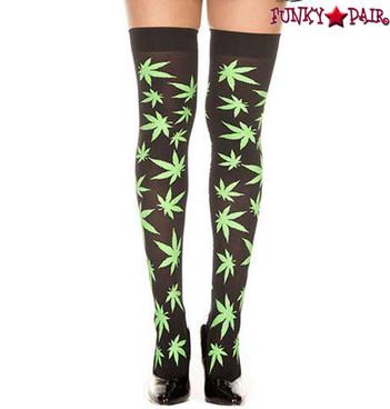 Music Legs | ML-4271, 420 Leaf Print Stockings