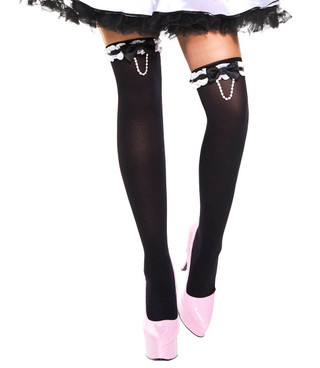 Pearl Chain Stockings by Music Legs ML-4655