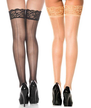 Backseam Fishnet Stockings by Music Legs | ML-4150