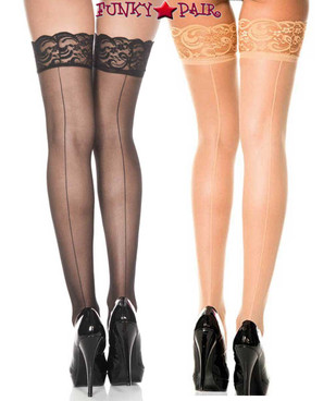 Music Legs | Backseam Fishnet Stockings, ML-4150