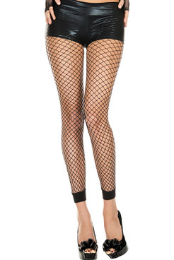 Music Legs | Mini Net Footless Leggings, ML-35930