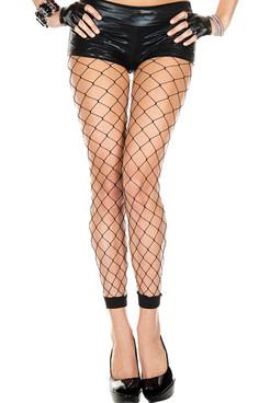 Diamond Net Footless Leggings by Music Legs ML-35924