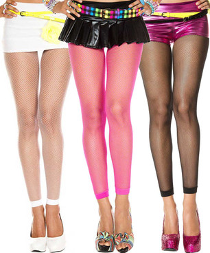 Music Legs | ML-9005, Fishnet Footless Leggings