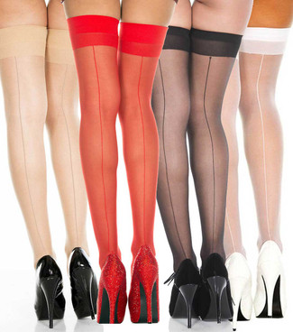 Music Legs | ML-4102, Backseam Sheer Stockings