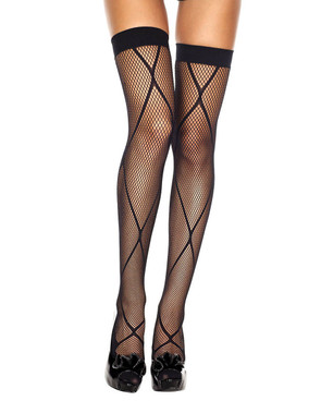 Music Legs | ML-4548, Leg Wrap Fishnet Stocking