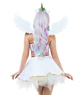 S9028 Pastel UniCorn Pony Dress Costume by Starline back view
