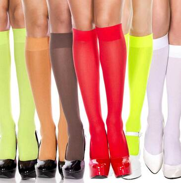 Music Legs | ML-5747, Opaque Knee High Socks