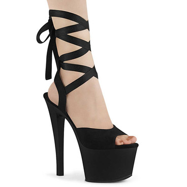 Sky-334, 7 Inch Exotic Dancer Ankle Wrap Platform Sandal by Pleaser Shoes