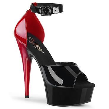 Pleaser | Delight-617, 6 Inch  Two Tone Ankle Strap d'Orsay Sandal