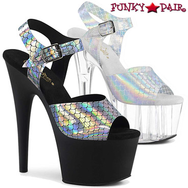 Pleaser | Adore-708N-MS, 7 Inch Mermaid Scales Sandal