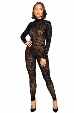 R-LI376, Velvet Leopard Bodysuit
