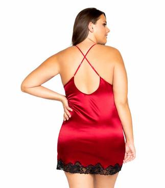 R-LI367X, Plus Size Elegant Pajama Set by Roma back view