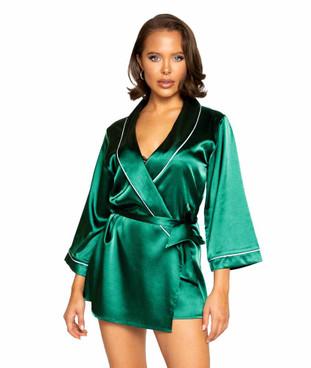 R-LI364, Satin Green Robe