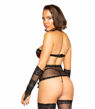 LI329 Women's Victorian Lingerie Set by Roma Back View