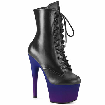 Pleaser | Adore-1020BP, 7 Inch Ombre Platform Ankle Boots