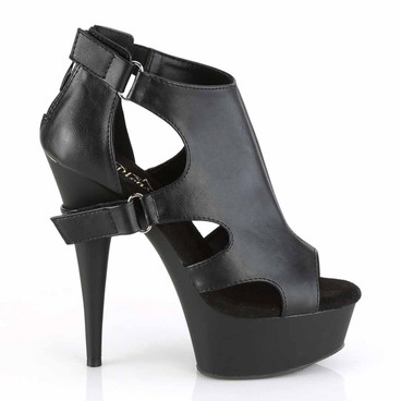 Delight-647, 6 Inch Cutout Bootie Sandal by Pleaser side view