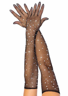 Leg Avenue | LA2038, Rhinestone Fishnet Gloves