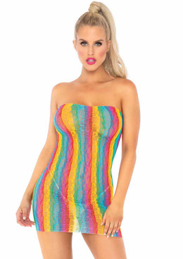 Leg Avenue | LA86163, Rainbow Leopard Lace Dress
