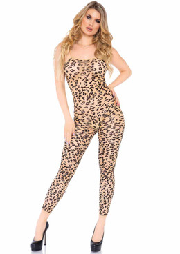 Leg Avenue | LA89267, Leopard Footless Body Stocking