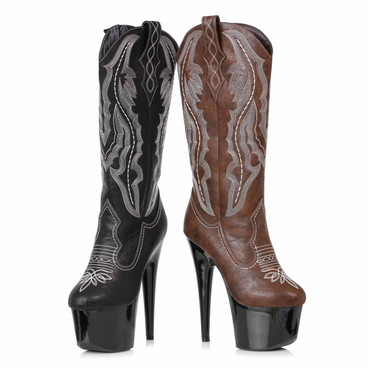 709-DALLAS, Stiletto Heel Cowgirl Boots by Ellie Shoes