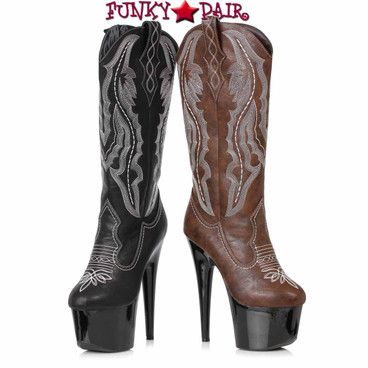 Ellie Boots | 709-DALLAS, Stiletto Heel Cowgirl Boots