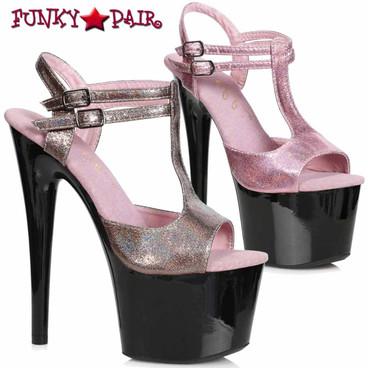 Ellie Shoes | 709-ZAYA, T-Strap Shimmer Sandal