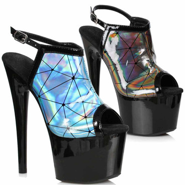 709-ZION, Holographic Sandal by Ellie Shoes